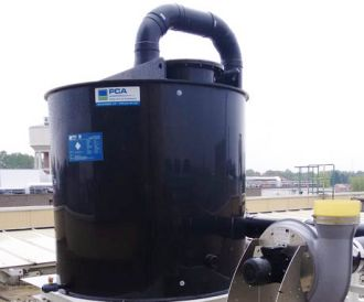Activated carbon filter for treatment of hydrogen chloride, PCA Air